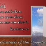 God's open doors