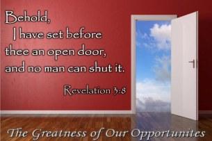 God Has An Open Door