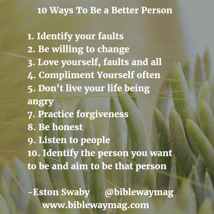 How can i be a better person
